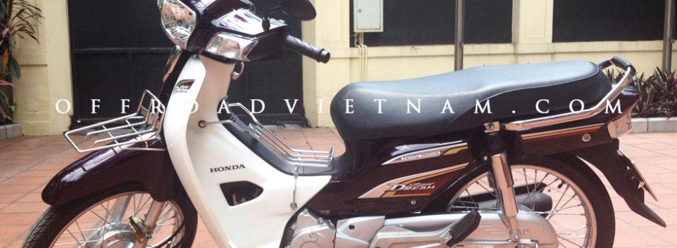Honda Super Dream 110cc 2014. The current model of Honda Dream for rent in Hanoi.