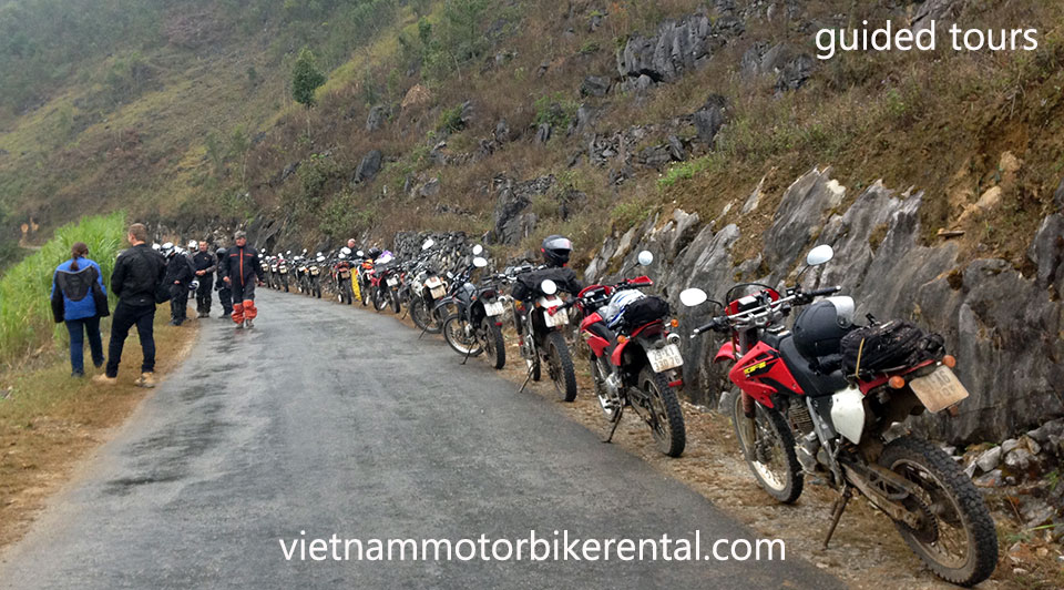 Vietnam Motorbike Hanoi Rental - Guided Vs Self-Guided For Your Vietnam Motorbike Tours. This is guided.