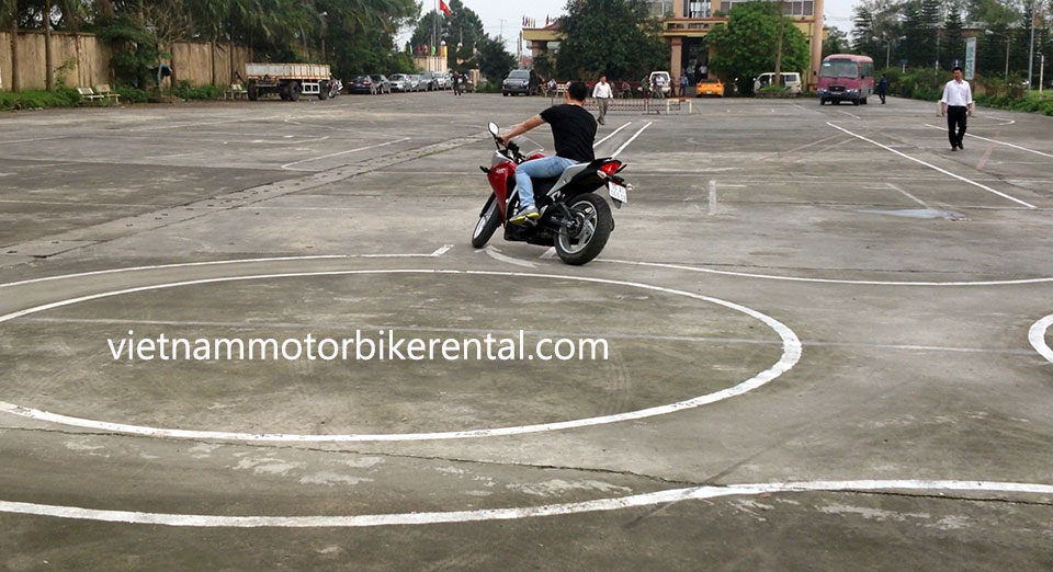 Vietnam Motorbike Hanoi Rental - Vietnam motorbike driving license test in Bac Ninh April 2014 from Offroad Vietnam staff