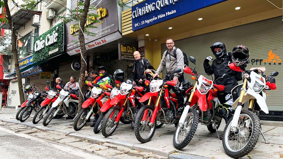 Vietnam Motorbike Rental - Hanoi-Based Motorbike Rental & Motorcycle Tour Business. Honda off road motorbikes XR125L, XR150L, CRF150L, CRF250L rental in Hanoi, Northern Vietnam. Either for guided or unguided motorbike tours.