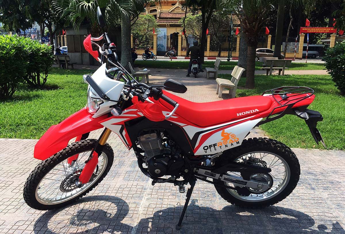 Vietnam Motorbike Hanoi Rental - Off-road dual enduro motorbike Honda CRF150L for rent and tours from Hanoi.