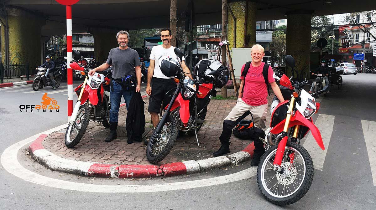 Vietnam Motorbike Hanoi Rental - Rent Off road Motorbikes (Dirt Bikes). Vietnam Motorbike Rental Dual Sport Off road Motorbikes 125cc - 250cc