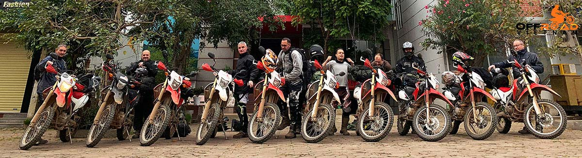 A guided motorbike tour from Hanoi to Northern Vietnam with a stop in Phu Yen and we are ready to ride in the morning