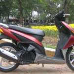 Honda Click 110cc. The first model of Click series, discontinued in 2010.