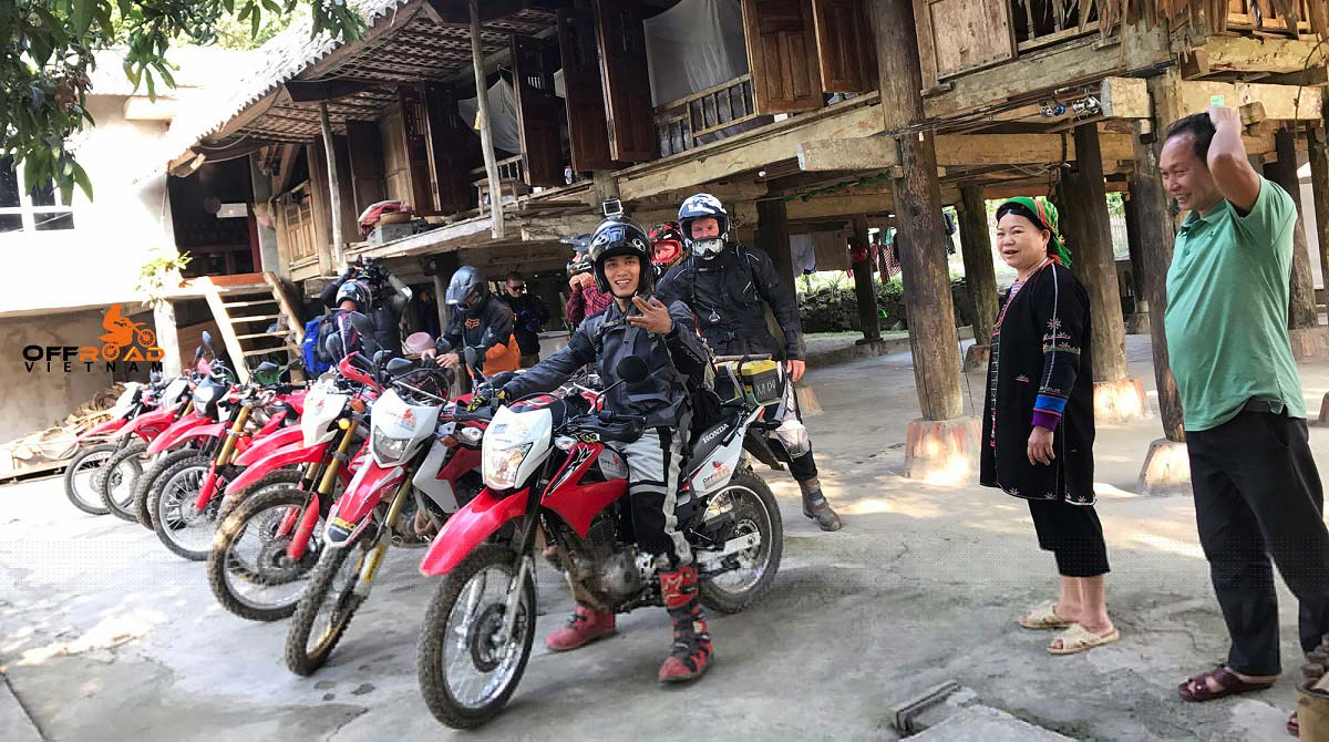 Motorbike hire from Hanoi to ride in Northern Vietnam. We spent the night with a local homestay in Vu Linh.