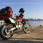 Honda XR250 in Ha Long Bay.