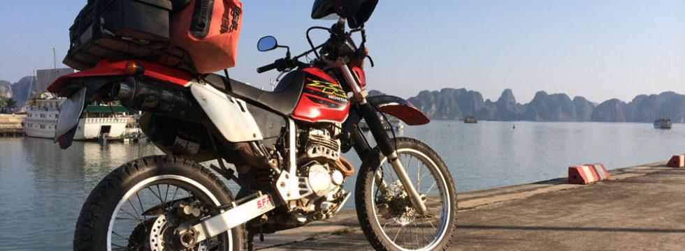 Honda XR250 in Ha Long Bay.