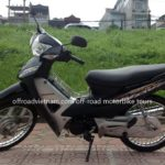 Honda Wave Alpha 100cc 2012. The current model available for hire in Hanoi.